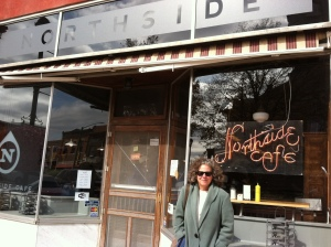 Outside the revamped Northside Cafe in Winterset, Iowa