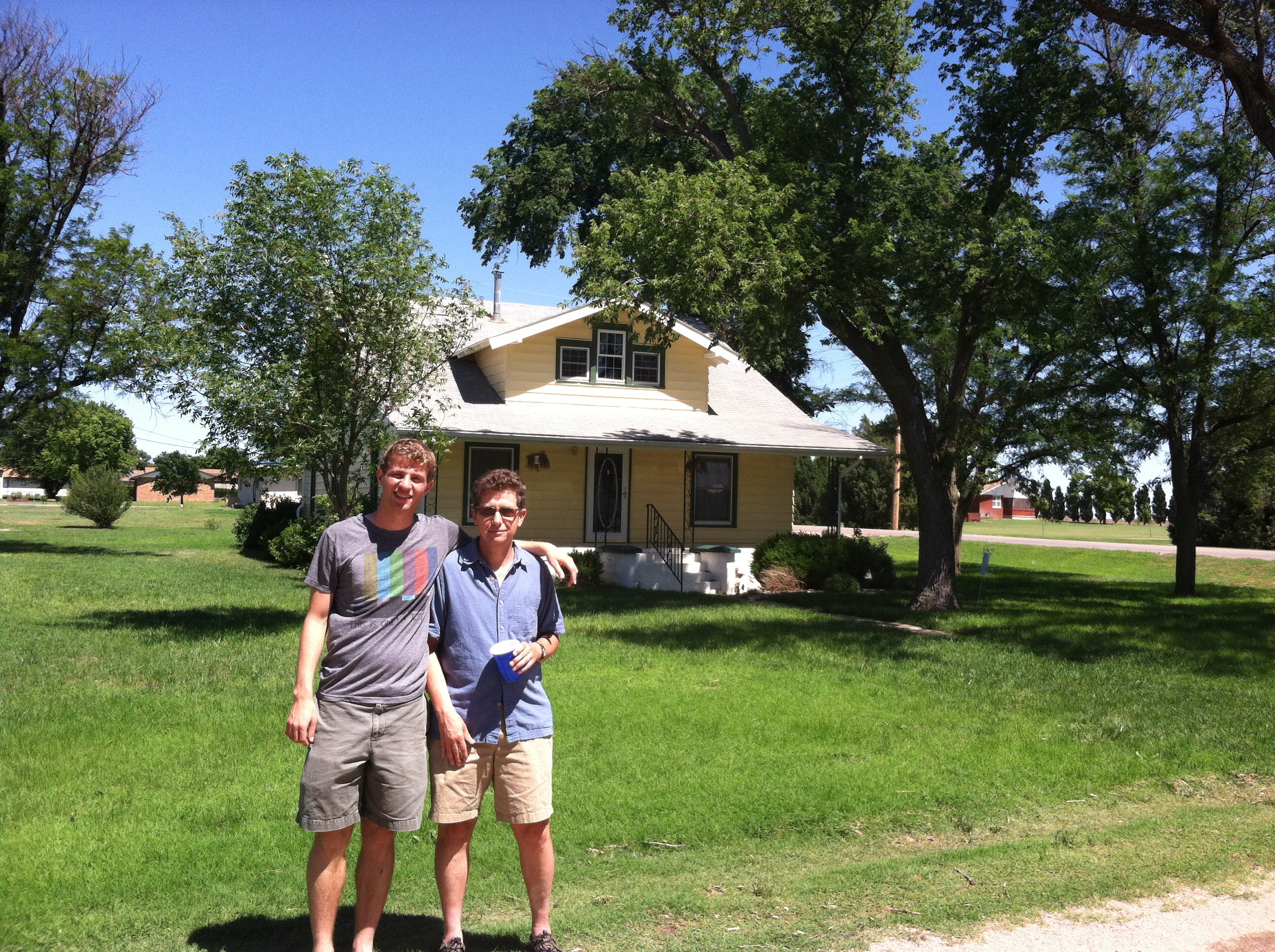 D and n at Doll ancestral home in Wright, Ks
