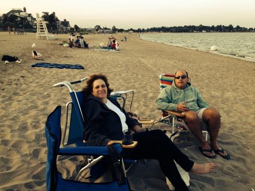 Beach picnic with Myra and David, Fairfield.