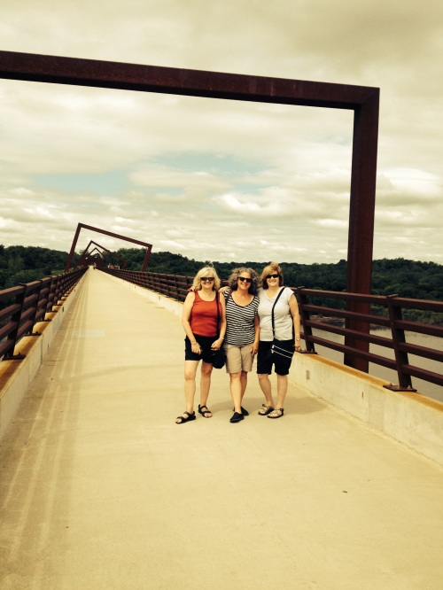 At the High Trestle Bridge  near Madrid, Iowa with friends from London and Connecticut