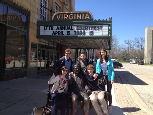 Thumbs up for roger ebert's home town  (champaign)